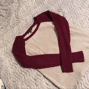 American Eagle red and white sweater, size m